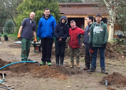 Thanks to Halow volunteers who helped to dig the polytunnel foundations