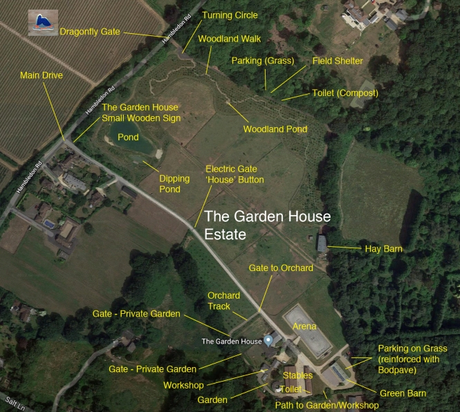 The Garden House Estate Map 2019